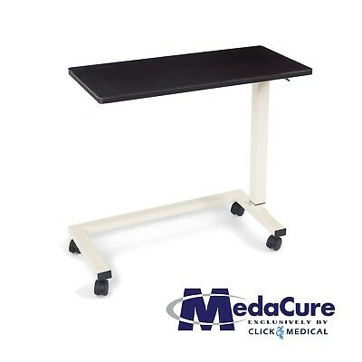 medical adjustable overbed table with wheels