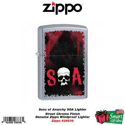 Zippo Sons of Anarchy SOA Lighter, Street Chrome, Windproof #28836