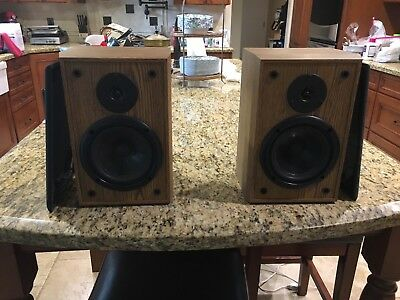 Vintage Infinity Reference E L Book Shelf Speakers Re Foamed Woofers