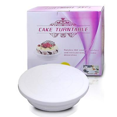 Cake Turntable Rotating Decorating 28cm Cake Stand Displays Perfect Baking