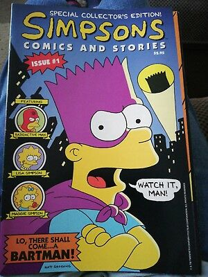 Simpson Comic #1 With Poster & radioactive man #216