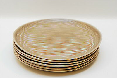 6 Steubenville Raymor Contempora Fawn Brown 10.75 Inch Dinner Plate Plates