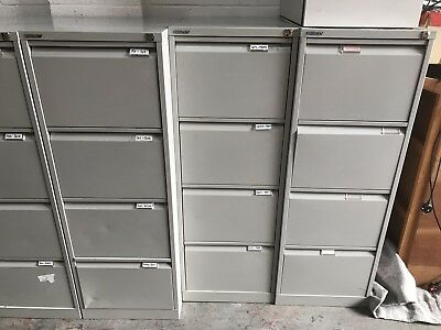 Bisley 4x Drawer Metal Filing Cabinet