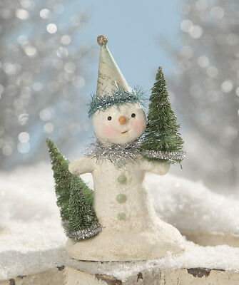 NEW Party in Green Snowman Figurine Bethany Lowe Authorized Dealer Christmas