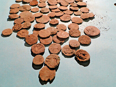 """5 """"as dug"""" Uncleaned and Unresearched Roman Bronze AE4 Coins."""