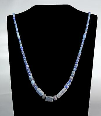 Necklace of Ancient Roman original glass beads: Circa 1st-2nd century AD.