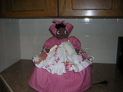 ~~TOASTER COVER DOLL~~For a 2 slice toaster~~Black Americana Mammy~~~~~