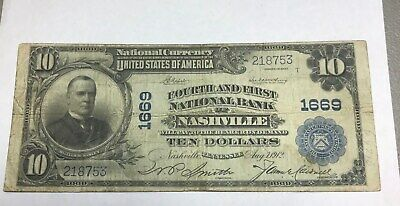 Nashville  Tennessee, fourth & First national bank , 1902 fine