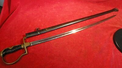 Great Ww1 Era Imperial German Nco Sword / Saber With Scabbard- Maker Mark