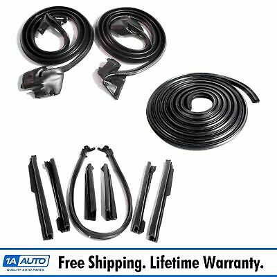 Weatherstrip Seal Kit Set 10 Pc for 69-72 GTO LeMans Tempest Convertible