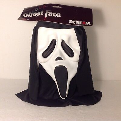 """Scream Ghostface Halloween Mask Easter Unlimited Fun World With Tag 2010 """"T"""""""