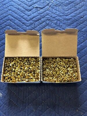 1,000 2 pc. Brass Compression / Speedy Rivets