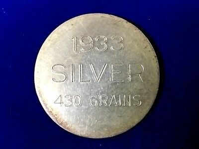 Silver Round From 1933 !!