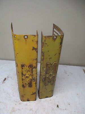 Pair Minneapolis Moline Tractor Grill Panels with cast iron MM Emblems Lot B
