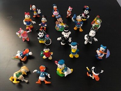 Vintage Lot of 21 Walt Disney Figurines Bully Applause Mickey Mouse Donald Duck