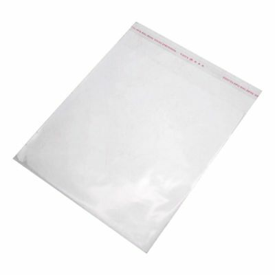 1X(100PCS Clear Resealable Self Adhesive Sealing Plastic Bags 16x20cm X6Y5)