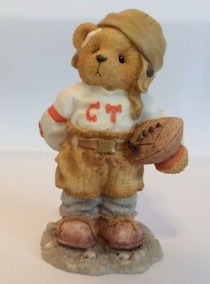 1996 Cherished Teddies BUTCH Can I Be Your Football Hero 156388 Boy Player BOX