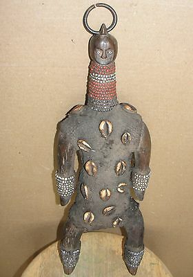 African Tribal Superb Namji Namchi Shells Beads Doll Old Statue Africa Afrikano