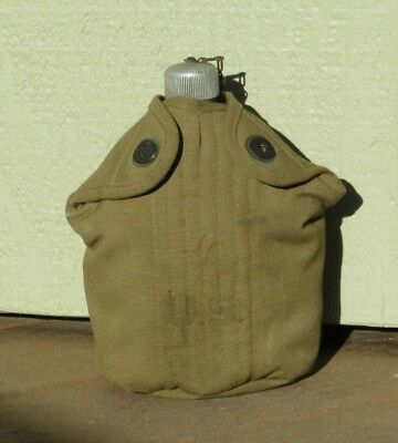 WW2 US Army Military M1910 Field Gear Canteen Cover ACME LEA GOODS 1941