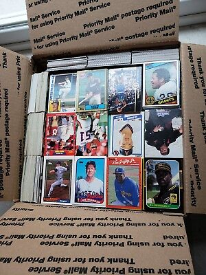 Vintage trading cards lot from an estate sale. Over 5000 cards