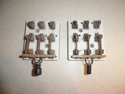 2 Antique Sensory 3 Way Electrical Porcelain Knife Switches