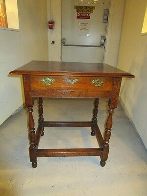 Antique English Period William & Mary Oak Table Mortise & Tenon Joints c1700