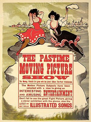 1913 Edison's Kinetoscope Moving Picture Show Vintage Movie Poster - 24x32