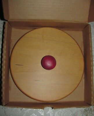 Longaberger Red Knob Woodcrafts Lid Only for Christmas Jingle Bell Basket NEW!