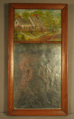 Provincetown Mirror with Folky P'town painting frame from driftwood 1921 NR