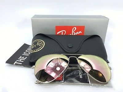 Ray-Ban RB3025 019/Z2 Aviator Flash Pink Lenses Silver Frame 58mm