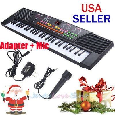 54Key Music Digital Electronic Piano Keyboard with Microphone for Kid X'mas Gift