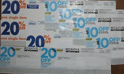 10 Bed Bath & Beyond Coupons Value $40 Exp 12/31/18 Online Or In-Store