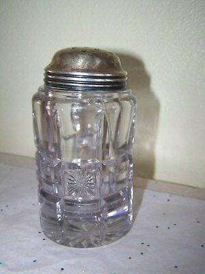 Antique Purpling Glass Muffineer / Sugar Shaker Great Shape