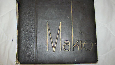 1936 Ohio State University 'Makio' Annual Yearbook! Fair  condition!