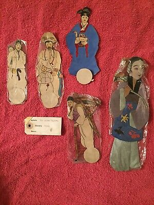 Antique Handmade China Cultural Ethnic Paper And Silk Dolls Colorful and Unique!