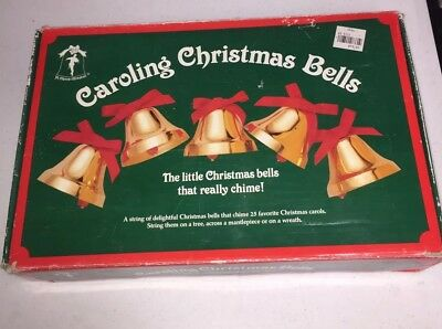 Ye Merrie Minstrel Musical Caroling Christmas Bells 25 Carols Songs 12 Bells