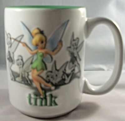 Tinker bell Walt Disney World Embossed two sided TINK Disney Parks coffee mug