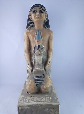 RARE ANCIENT EGYPTIAN ANTIQUE Statue Egypt Stone Osiris and Queen 1375 Bc