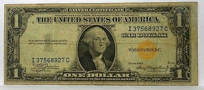 1935 A North Africa Note $1 One Dollar Bill YELLOW SEAL Emergency Issue