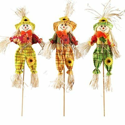 IFOYO Small Fall Harvest Scarecrow Decor 3 Pack Happy Halloween Decorations Inch