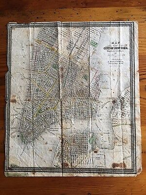 1835 Map of the City of New York Drawn by D. H. Burr Published by  J. Disturnell