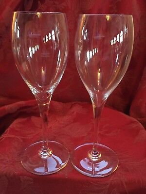 74e78a48f140 FLAWLESS Exquisite BACCARAT France Pair ST REMY Glass Crystal CLARET WINE
