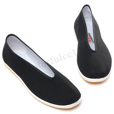 Traditional Cotton Sole Tai-Chi / Kung Fu Shoes Men Black Sneakers Slippers 1
