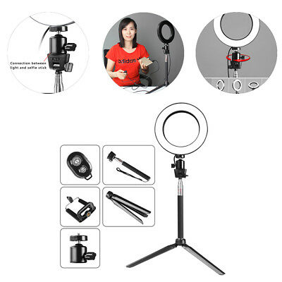"8"" LED Studio Ring Light Photo Video Dimmable Lamp Light Kit Set For Camera 20cm"