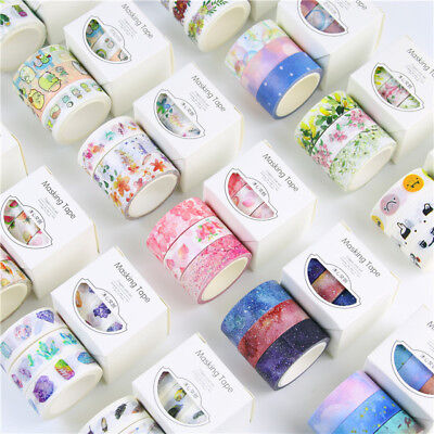 3 Rolls Washi Masking Tape Set Petal Animal Flower DIY Scrap booking Sticker New