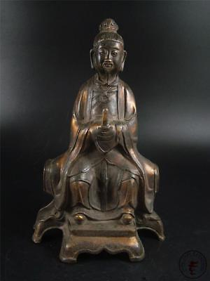 Very Large Old Chinese Bronze Made Ancient Official God of Fu (blessing)