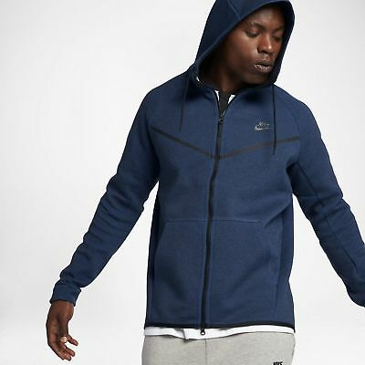 27de6e65 Nike Tech Fleece Windrunner Hoodie Jacket Obsidian Blue 2XLTT XXLTT 805144  451
