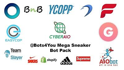 Sneaker Bot Pack-  Supreme, SNKRS, CyberAIO, Ghost SNKRS, Dashe, ANB AIO, Adidas
