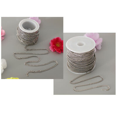 Stainless Steel Cable Link Chain for Crafting DIY Gift Jewelry Making Silver
