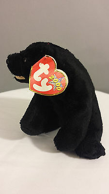 TY plush stuffed animal toy doll BEANIE BABIES CINDERS the Black Bear
